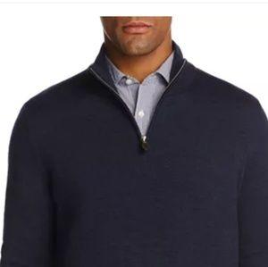 Bloomingdale's Cashmere Half-Zip  Sweater